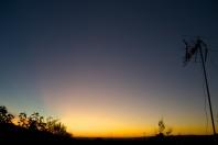 amanecer en el tejado
