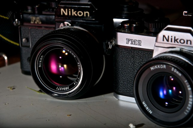 Nikon FM2n with Nikkor 50mm f1.8 ais and Nikon FA with Nikkor 50mm f1.4 ai